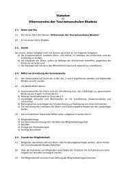 Statuten des Elternvereins - Tourismusschulen Bludenz