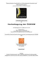 Herbsttagung der ÖGEKM - Österreichische Gesellschaft für ...