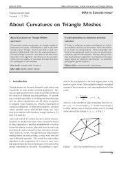 About Curvatures on Triangle Meshes