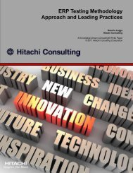 ERP Testing Methodology Approach and Leading Practices - Hitachi ...