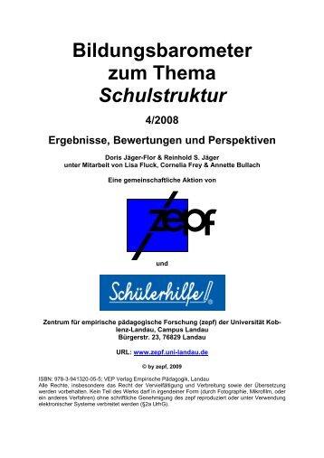 Bildungsbarometer zum Thema Schulstruktur - Verlag Empirische ...