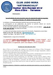 Adjunto información de las actividades para el