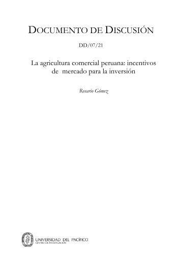 incentivos de mercado para la inversión - Universidad del Pacífico