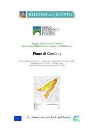 Il piano di gestione - Parco Regionale dei Colli Euganei