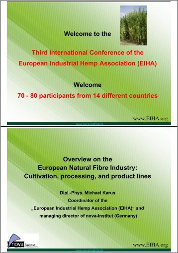 full presentation - EIHA European Industrial Hemp Association