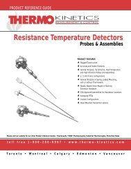 Resistance Temperature Detectors Probes ... - Thermo-Kinetics