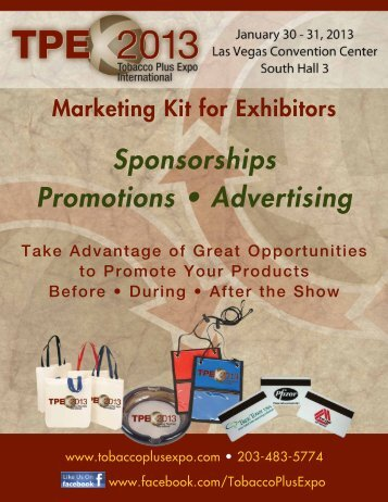 Sponsorships Promotions • Advertising - Tobacco Plus Expo