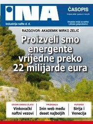 Proizveli smo energente vrijedne preko 22 milijarde eura - Ina