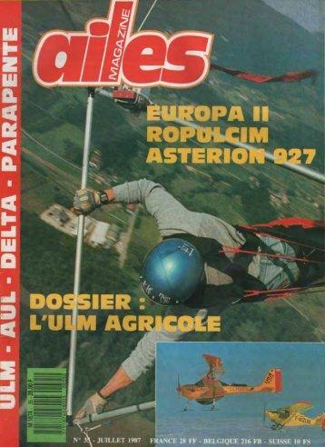 ailes mag n° 35 juillet 1987 le pole nord en ulm