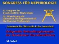 Nebel - Zeitgemäße Behandlungskonzepte - WB-nephro.de
