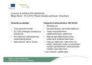 Merja Niemi Kaustinen 2012-02-15 - Maaseutupolitiikka
