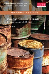 Managing Hazardous Chemicals - people on the Web at Boston ...