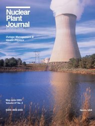 Nuclear Plant Journal Outage Management ... - Digital Versions