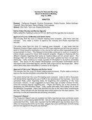 Society for Vascular Nursing Board of Directors Meeting July 14 ...