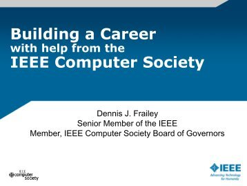 Building a Career IEEE Computer Society