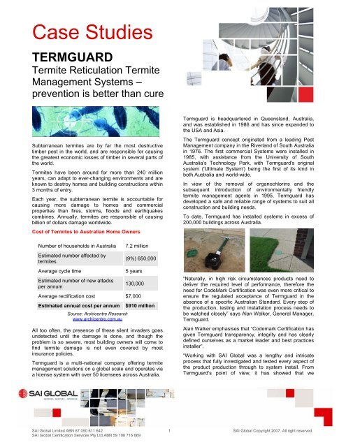 Case Study - Termguard - SAI Global