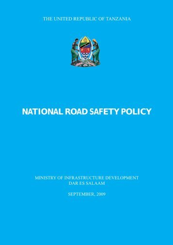 National Road Safety Policy of 2009 - Uwaba.or.tz