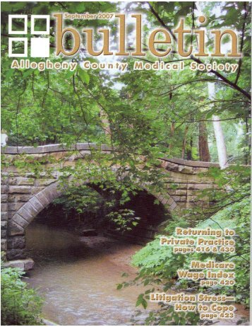 The Bulletin - Allegheny County Medical Society
