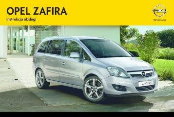 Opel Zafira 2013 – Instrukcja obsługi – Opel Polska