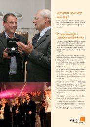 Newsletter Februar 2007 - Vision for the World