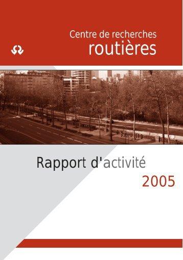 rapport d'activité 2005 - CRR