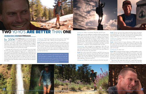 Interview with Scott Williamson - Pacific Crest Trail Association