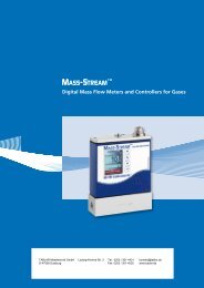 digital Mass Flow Meters and Controllers for Gases - Tablar ...