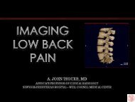 IMAGING THE SPINE