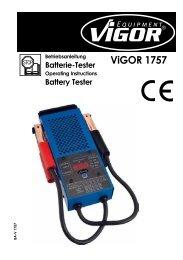 Battery Tester ViGOR 1757 - Vigor Equipment