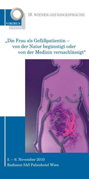 """""""Die Frau als Gefäßpatientin – von der Natur begünstigt oder von ..."""