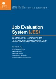 Guidelines - Office of the Commissioner for Public Employment