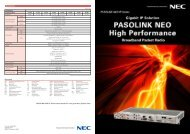 PASOLINK NEO IP: Series name stands for next generation packet ...