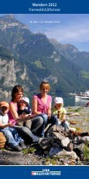 Wandern 2012 Vierwaldstättersee - Schifffahrtsgesellschaft des ...