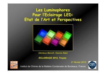 Les Luminophores Pour l'Eclairage LED: Etat de l'Art et Perspectives