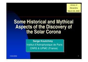 Serge Koutchmy_Some Historical and Mythical Aspects of the Discovery of the Solar Corona