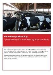 Faktaark - Pervasive positioning