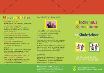 Flyer Kinderkrippe - Tirschenreuth