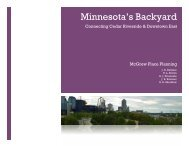 Minnesota's Backyard - Nexus Research Group - University of ...