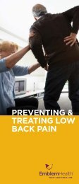 PREVENTING & TREATING LOW BACK PAIN - EmblemHealth