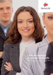 Code de conduite du groupe Swiss Life