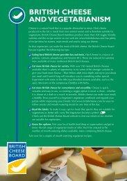 BRITISH CHEESE AND VEGETARIANISM - British Cheese Board