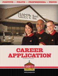 CAREER APPLICATION - Casey's General Store