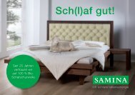 SAMINA Schlaftipps - Sch(l)af gut!