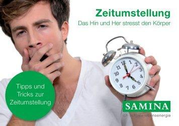 SAMINA Schlaftipps - Zeitumstellung