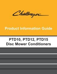 features and benefits ptd series disc mower conditioners - Milton CAT