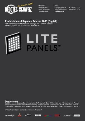 Produktenews Litepanels Februar 2008 (English) - Dedotec Schweiz