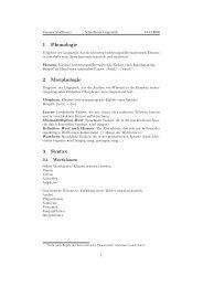 1 Phonologie 2 Morphologie 3 Syntax - Computerlinguistik Uni ...