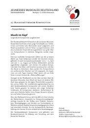 Musik im Kopf - Jeunesses Musicales Deutschland