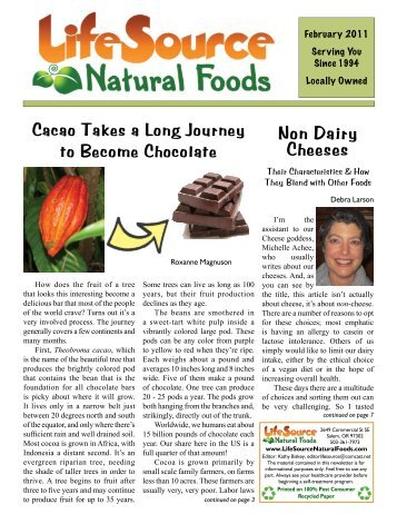Feb 11 Newsletter - LifeSource Natural Foods
