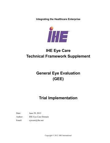 General Eye Evaluation - IHE